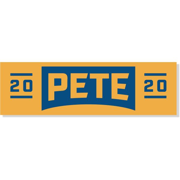 "Pete Buttigieg Presidental Campaign Bumper Sticker | 3"" x 10"""