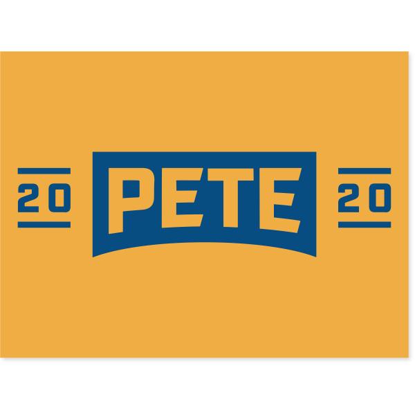 "Pete Buttigieg Presidental Campaign Yard Sign   18"" x 24"""