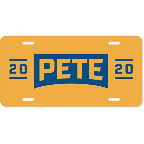 Pete Buttigieg Presidential Campaign License Plate