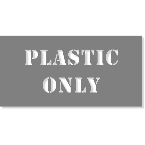 "Plastic Only Stencil | 4"" x 8"""