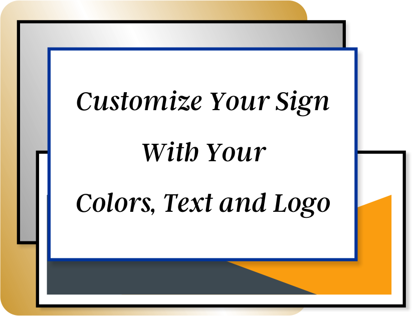 Color Sign Horizontal 3 in x 8 in