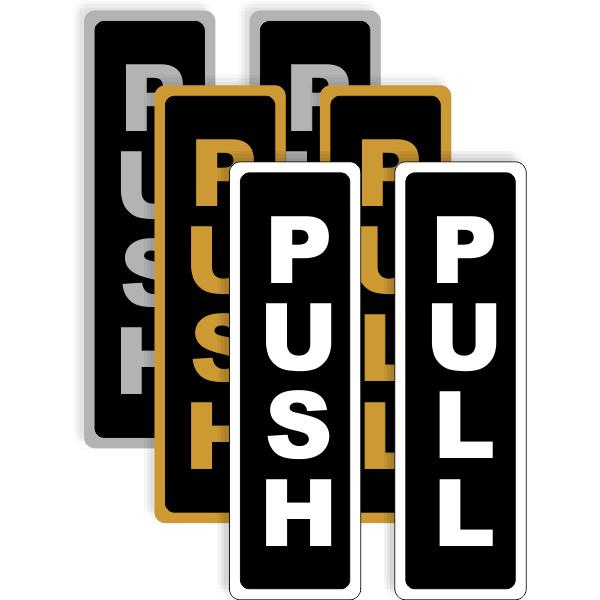 Push / Pull Vertical Aluminum Sign Set