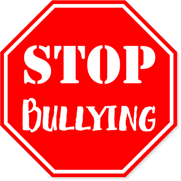 """Red Stop Bullying Vinyl Decal   6"""" x 6"""""""