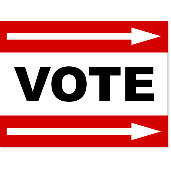 """Red Vote Right Arrow Yard Sign 