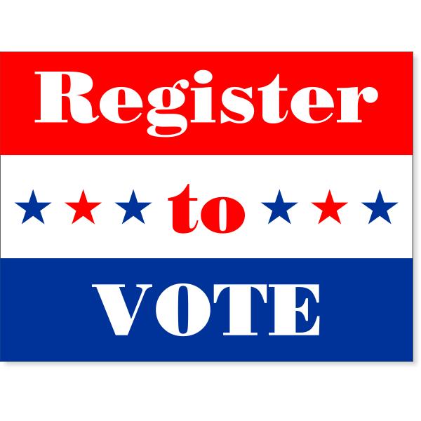 "Register To Vote Yard Sign | 18"" x 24"""