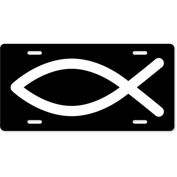 Religious Christian Symbol Custom License Plate