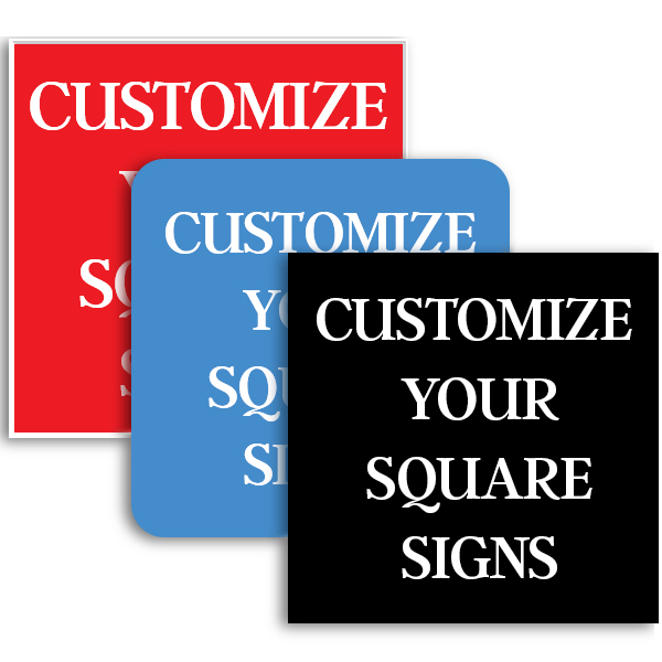 Square Engraved Plastic Signs