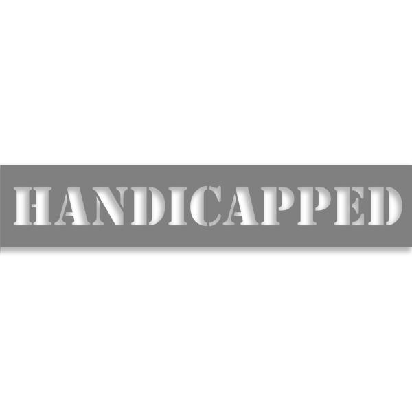 "Handicapped 2"" x 10"" Mylar Stencil"