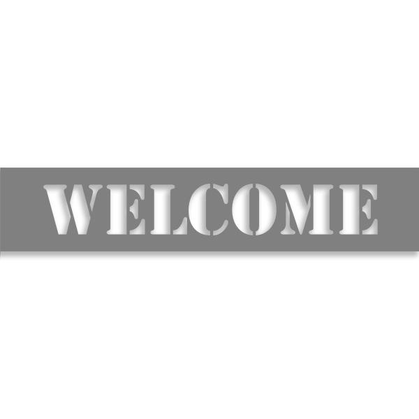 """Welcome 2"""" x 10"""" Mylar Stencil"""