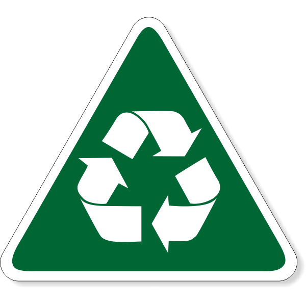 """Triangle Recycle Decal 