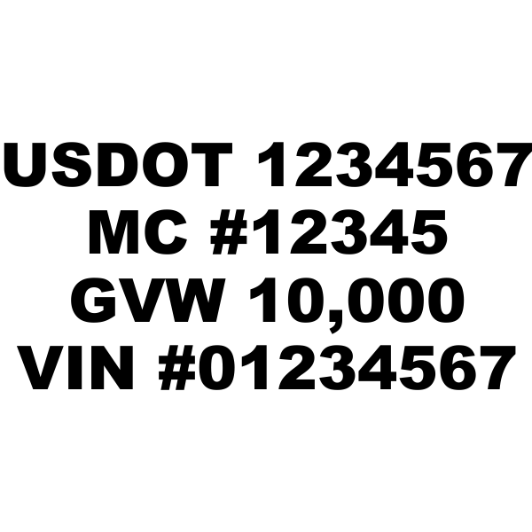 USDOT Cab Set