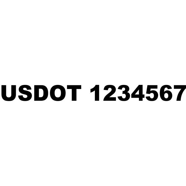 USDOT Number Vinyl Lettering