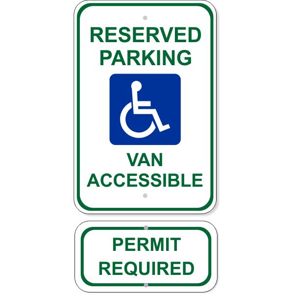 Van Accessible Handicap Sign Bundle