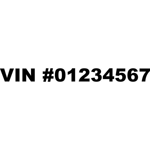 VIN Number Vinyl Lettering