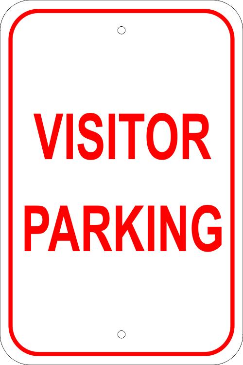 Visitor Parking Aluminum Sign