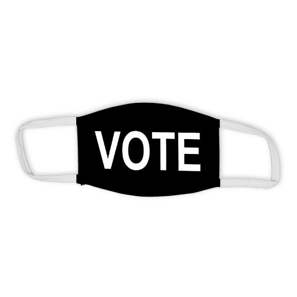 "Black ""VOTE"" Child Size Face Mask"