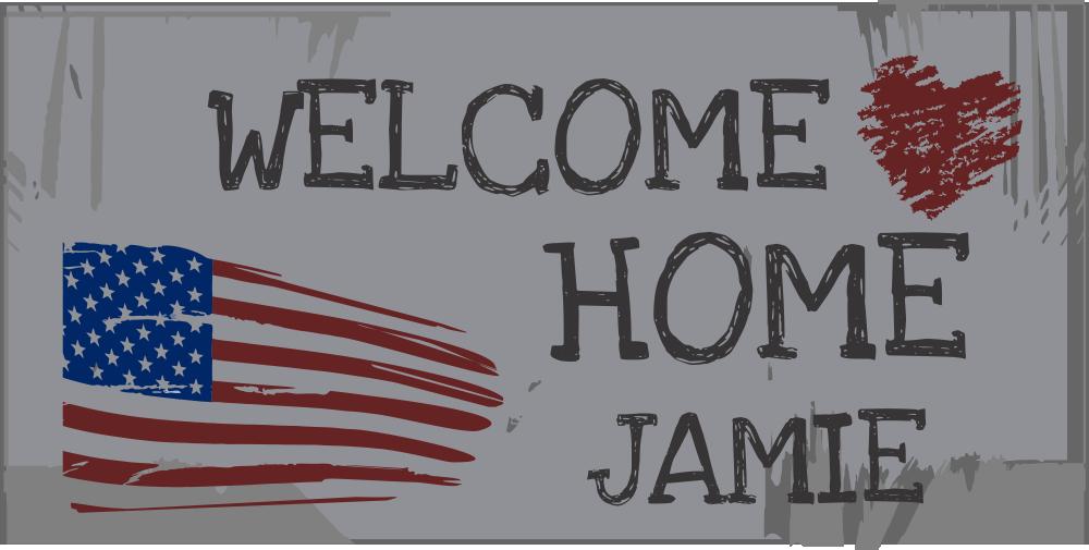 Welcome Home Custom Americana Banner
