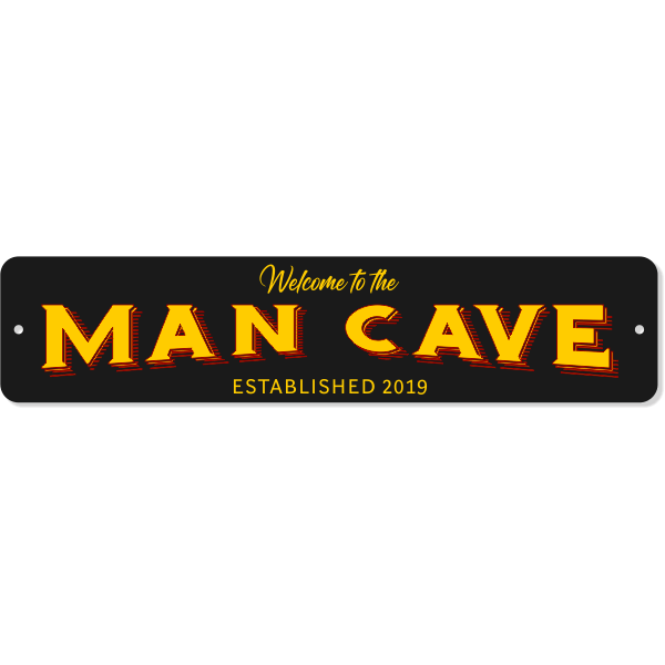 """Welcome to the Man Cave Aluminum Sign 