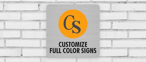 Color Plastic Sign