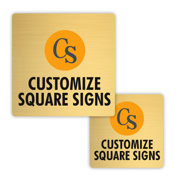 Full Color Brass Square Signs
