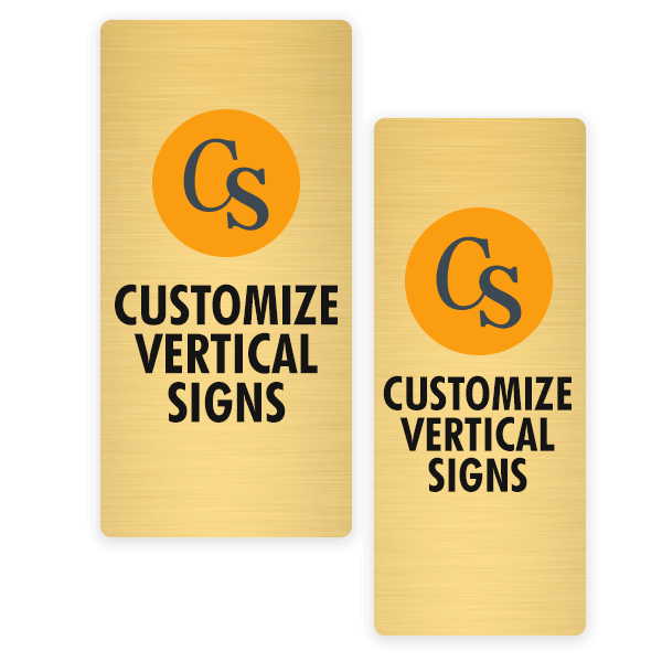 Rectangle Full Color Brass Sign