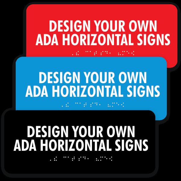 Verical ADA sign