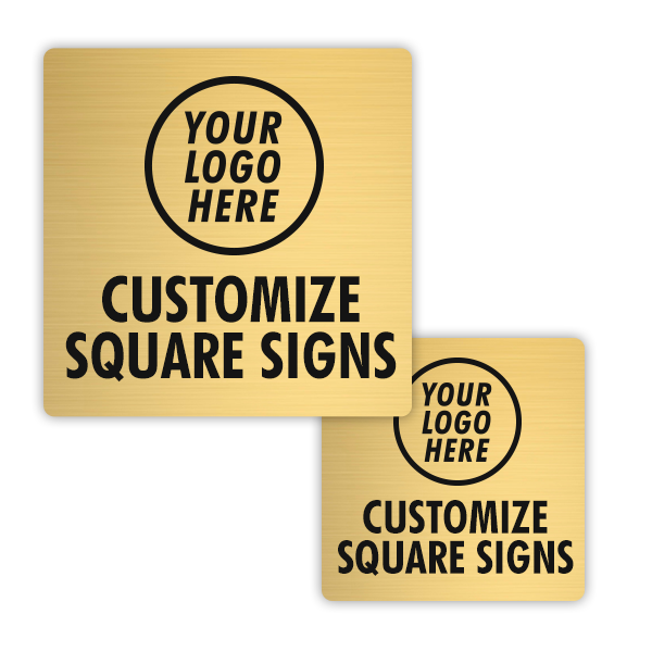 Brass Engraved Square Signs
