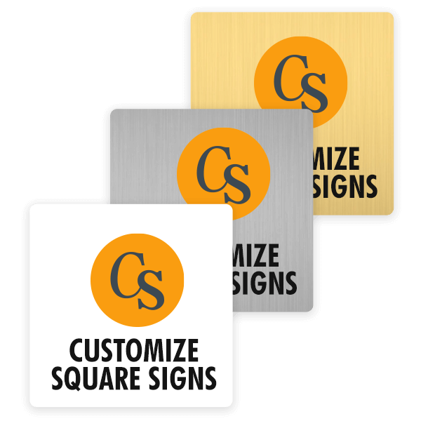 Examples of Square Signs in Full Color