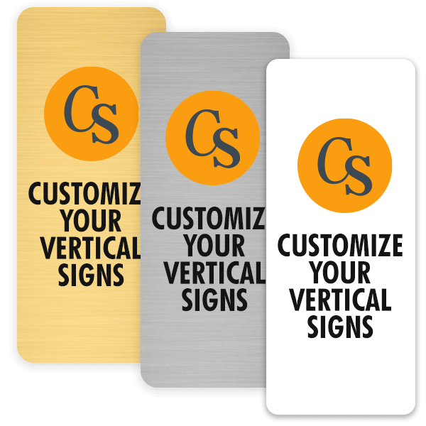 Example of Vertical UV printed Signs