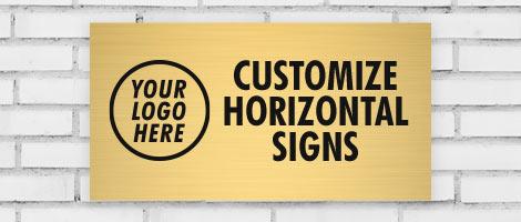customize horizontal signs