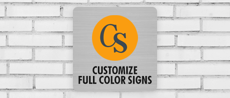 customize full color signs