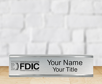 engraved FDIC sign