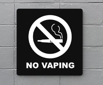 engraved no vaping sign