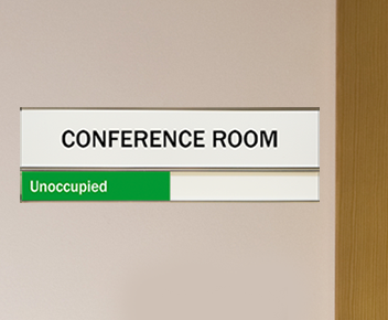 engraved conference room door sign