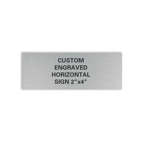 custom engraved horizontal 2x4 sign
