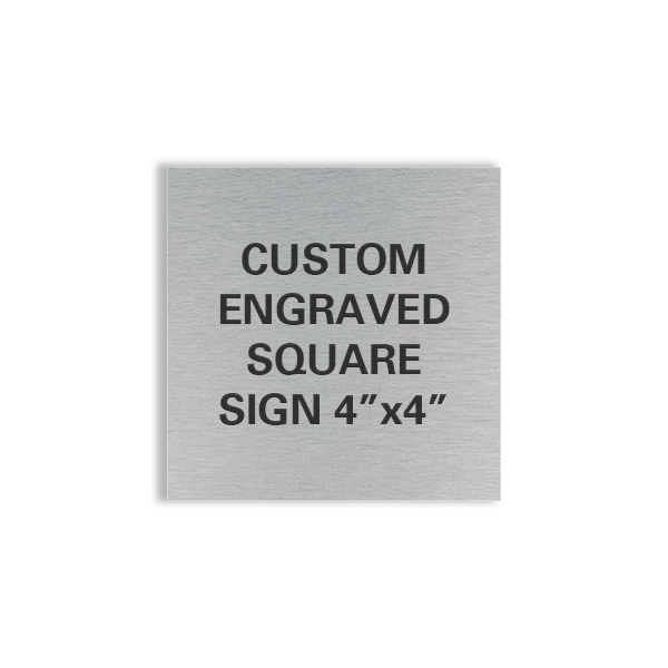 custom engraved square sign 4x4