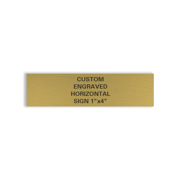 custom engraved horizontal brass sign 1x4