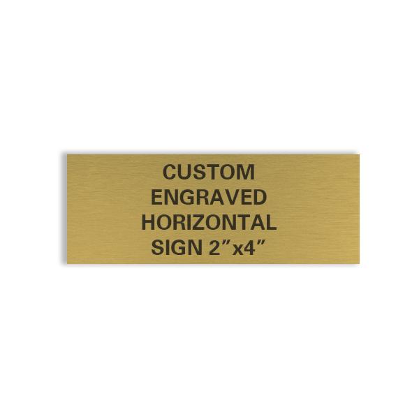 custom engraved horizontal sign 2x4