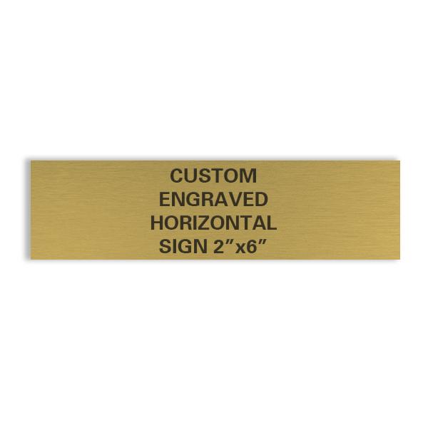 custom engraved horizontal brass sign 2x6