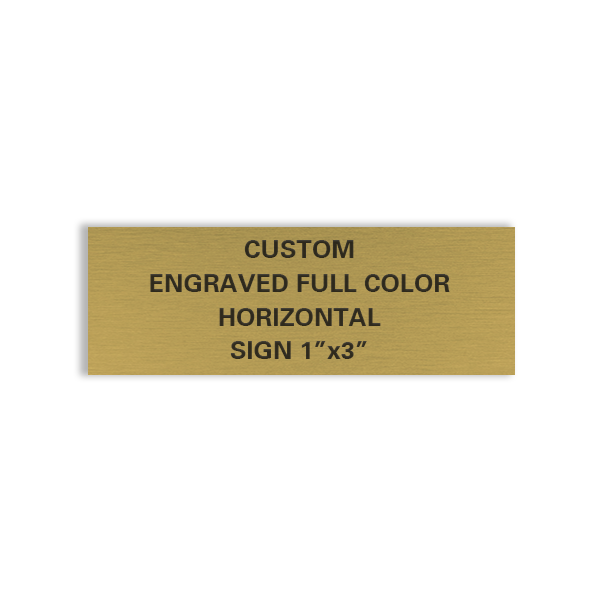 custom engraved brass sign 1x3