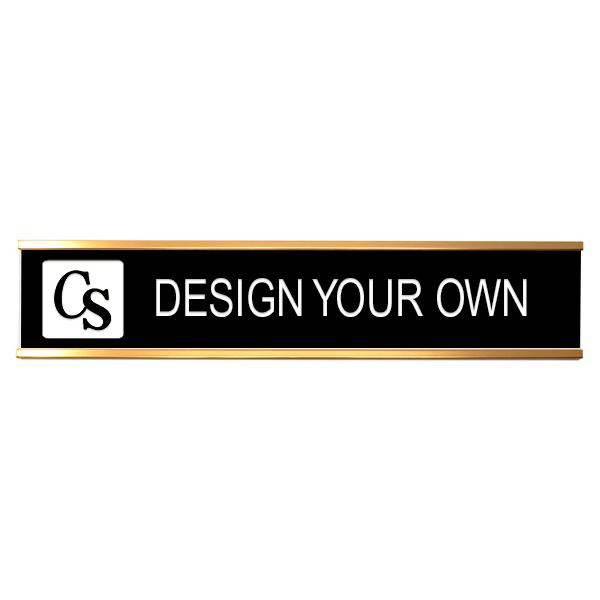 custom engraved name plate 2x8
