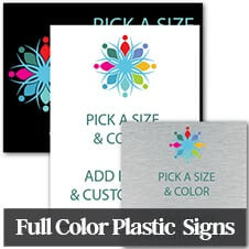 Custom Full Color Plastic Sign