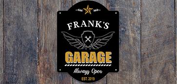 Custom Garage Man Cave Sign