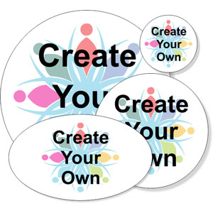 Create Your Own Full Color Round Bumper Sticker