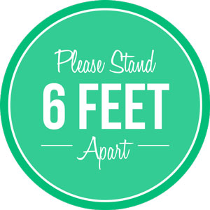 Please Stand 6ft Apart Floor Decal