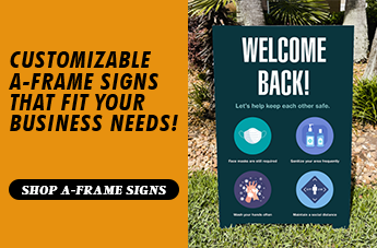 Customize your own A-Frame signs, Shop A-Frame Signs