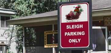Sleigh Parking Only Sign